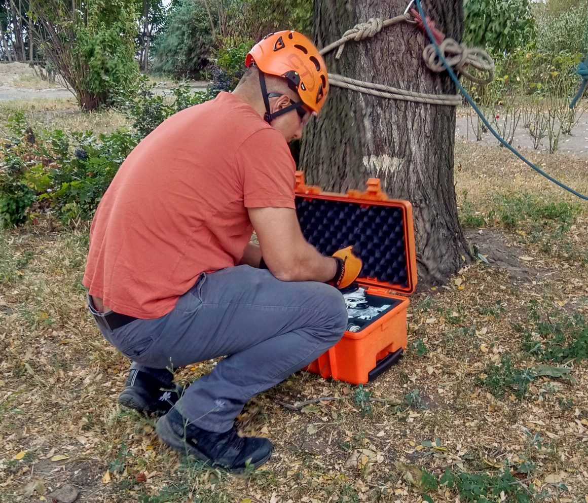Development of an innovative service for surveying and assessment of the ecological health of trees